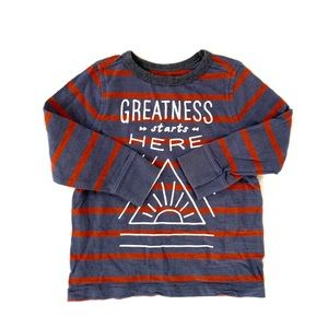 3/$25 Old Navy Baby Boy Striped Graphic Tee